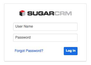 Sugar 7 - Login Page
