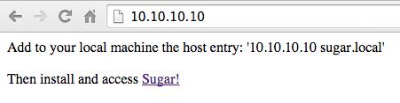 Sugar VM - Default Browser Message
