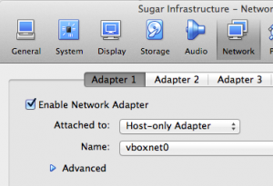 VirtualBox Host-only Adapter - vboxnet0