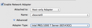VirtualBox Network Card - Intel PRO/1000 Server