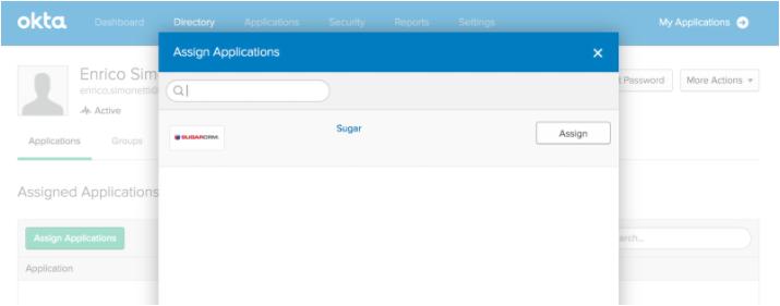 Sugar App Permissions to User