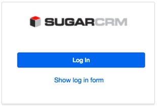 SSO Sugar Login Screen